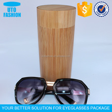 YT7503 Top quality cylinder wooden sunglasses box
