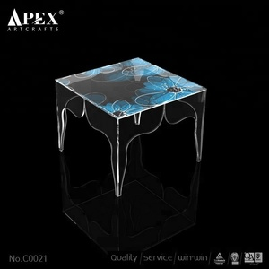 Clear Acrylic Side Table Small Lucite Couch Bedside Table Simple Design Coffee Table