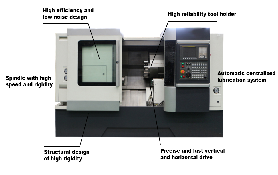 CLD-15 Multi Spindle Automatic Power Tool Turret Slant Bed CNC Turning Center Lathe for Sale