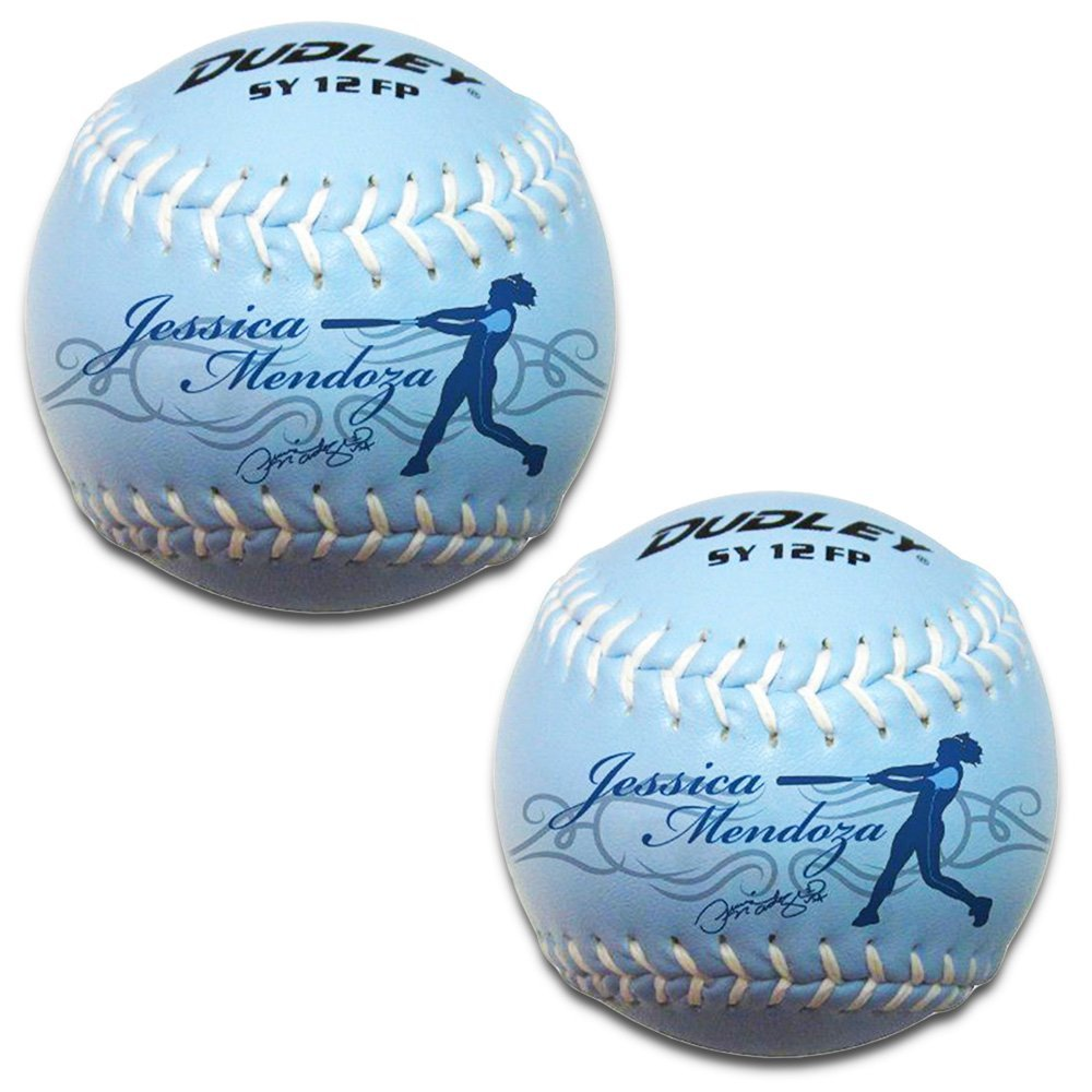 Dudley Softie Practice Fast Pitch Softballs 12 Inch (Pack of 2 Fastpitch Softballs, Jessica Mendoza)