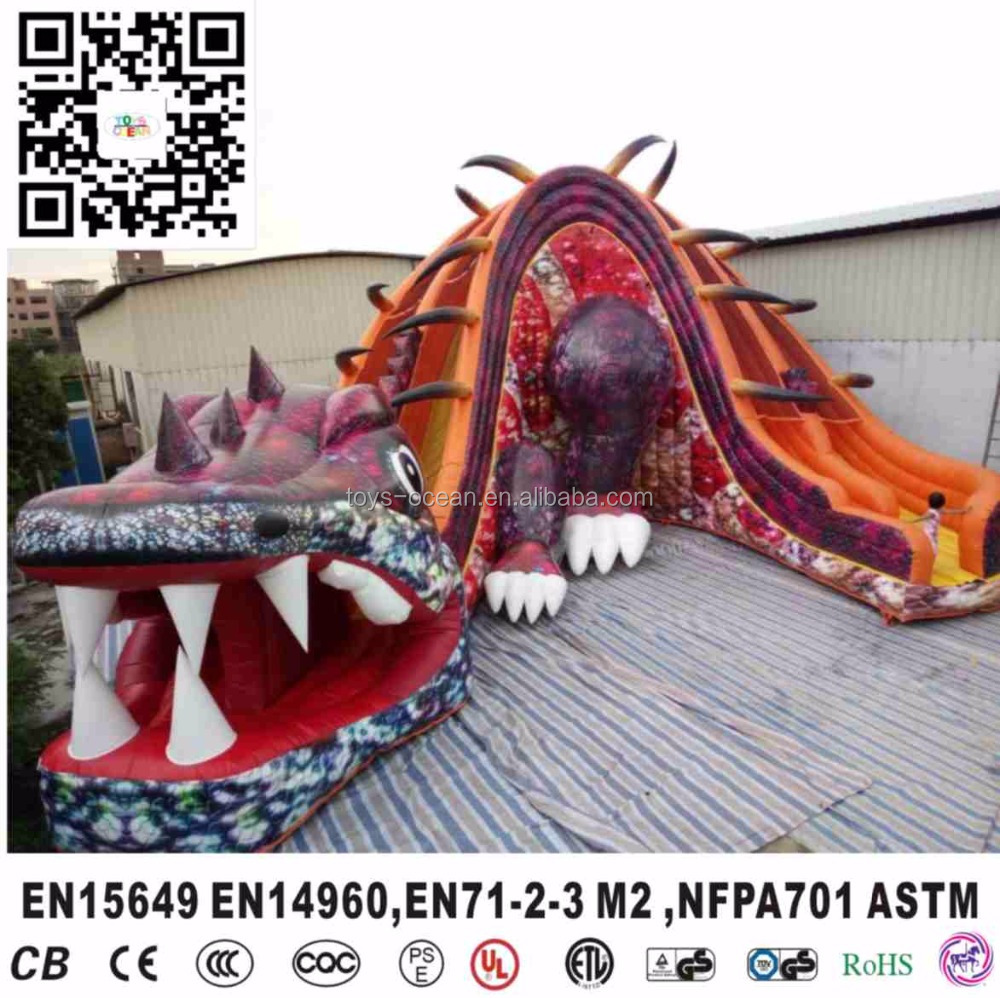 china cheap inflatable dinosaur dino slide for party rental digital printing lead free
