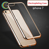 cell phone accessories cute unique phone electroplating cover for iPhone 7 Soft Silicon electroplate tpu case