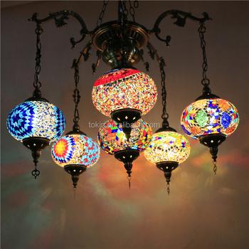 Handmade Mosaic Art Single Turkish Lamps CL6L01