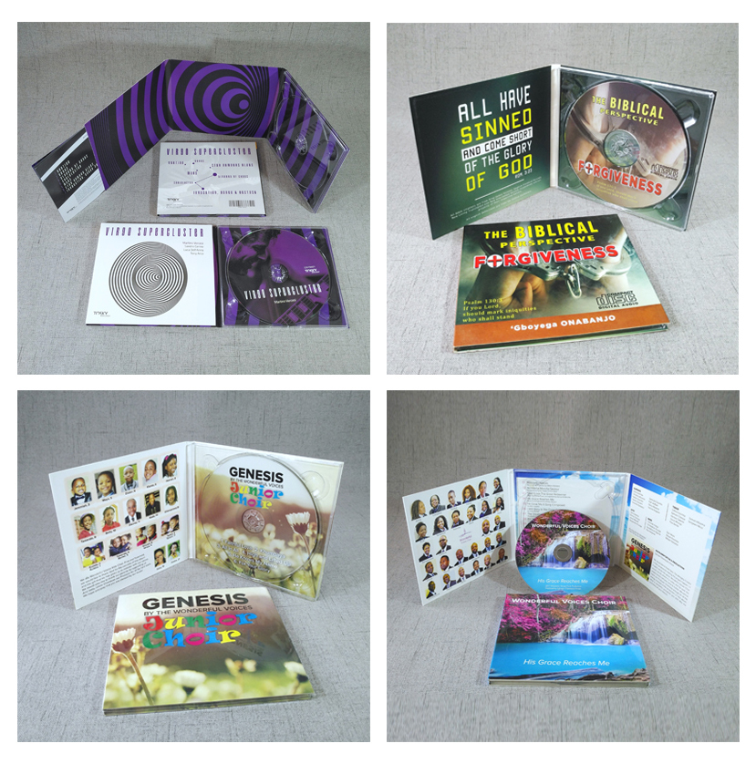 CD Replication Printing with 6 Panel Digipak