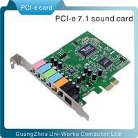 with fiber-optic pci e CMI8788 8 channel 7.1 sound card