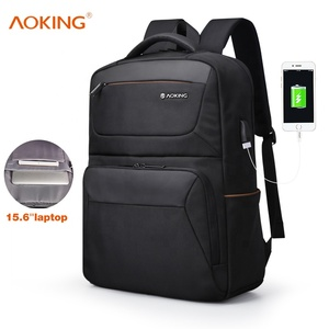 aoking wholesale 17inch computer backpack waterproof business laptop bag backpack backbag with usb port charger