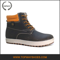 Cheap Leisure warm genuine leather platform mens boots