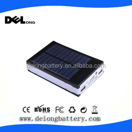 10000mah mobile power bank 5v output water proof solar charger