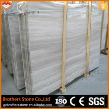 hot sale Wood serpeggiante wooden line grain italian marble prices marble making machine Chinese white marble slab
