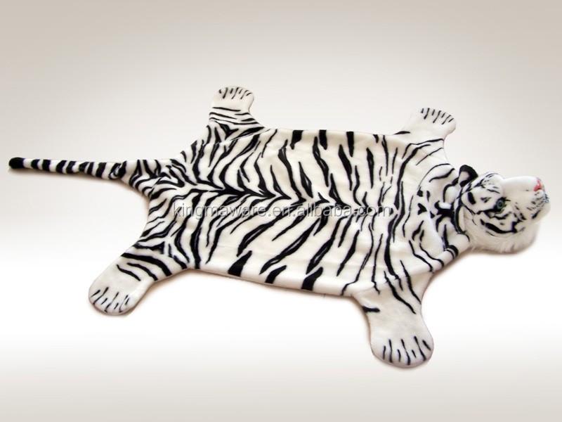 Plush Tiger Carpet /plush Brown Tiger Rug /plush Tiger Mat/ Plush Animal  Shaped