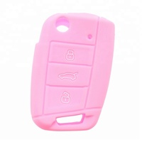 Single color silicone car key covers, silicone car key bag for vw golf7 in stock