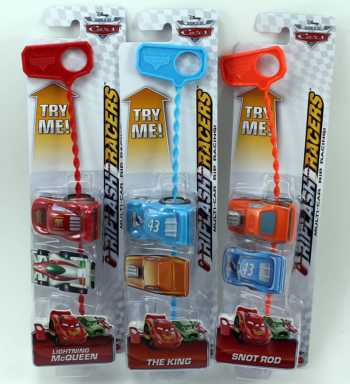 Disney Cars Riplash Racers Set of 3 - The King, Snot Rod & Lightning McQueen