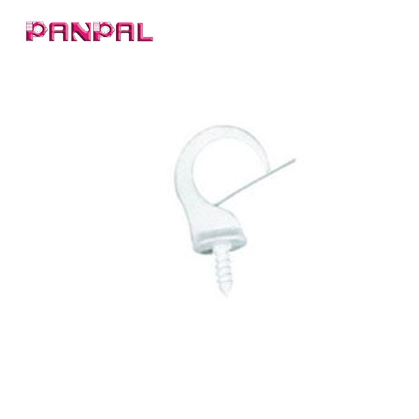 BSCI Approved china factory White Safety Cup Hook with Clip