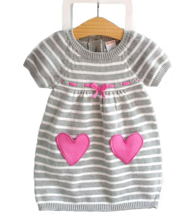 Koreanischen Stil Mode Kind Kleid Stricken Streifen Mädchen Kleider Buy Kind Kleid,Mode Kleid Kind,Mädchen Kleider Product on