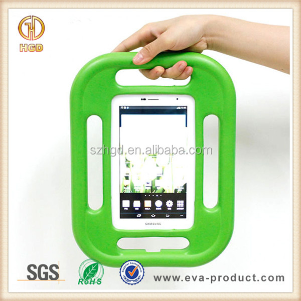 Green EVA foam kids Proof 7 inch tablet case for Samsung Galaxy tab 2