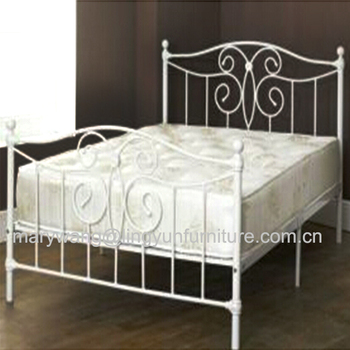 Eenpersoonsbed Met Metalen Frame.Tijd Leven 5ft Stadsblok Witte Metalen Bed Kingsize Bed Frame Alleen