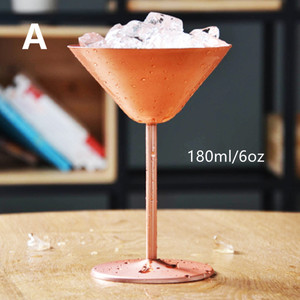 Wine Glass 180ml Stainless Steel Cocktail Cups Drinking Cup Bar Supplier