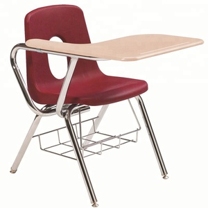 Single school desk and chair student used student furniture