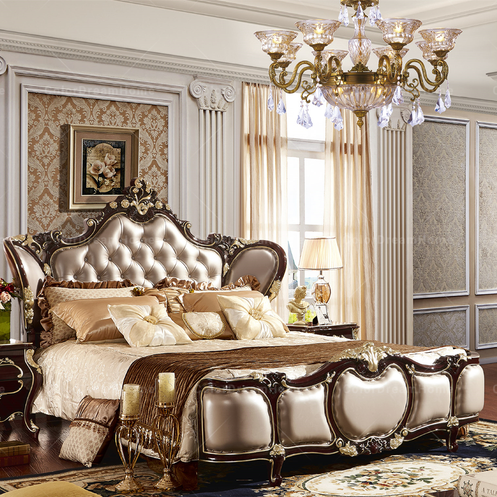 Modern Baroque Bedroom Set Royal French Rococo Style King Queen Size Bed -  Buy Rococo Beds,Queen Size Beds,Baroque Bed Product on Alibaba.com