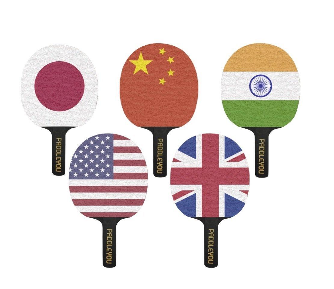 Buy International Ping Pong Paddle Set Game Improving Table - International ping pong table