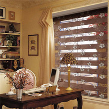 European style Modern Sense embroidered Zebra soft yarn blinds