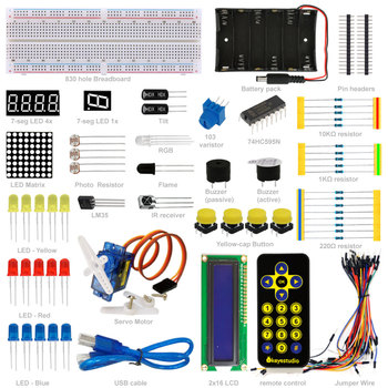 Keyestudio Electronic Components Basic Project Starter Kit for Arduino diy Learning Set