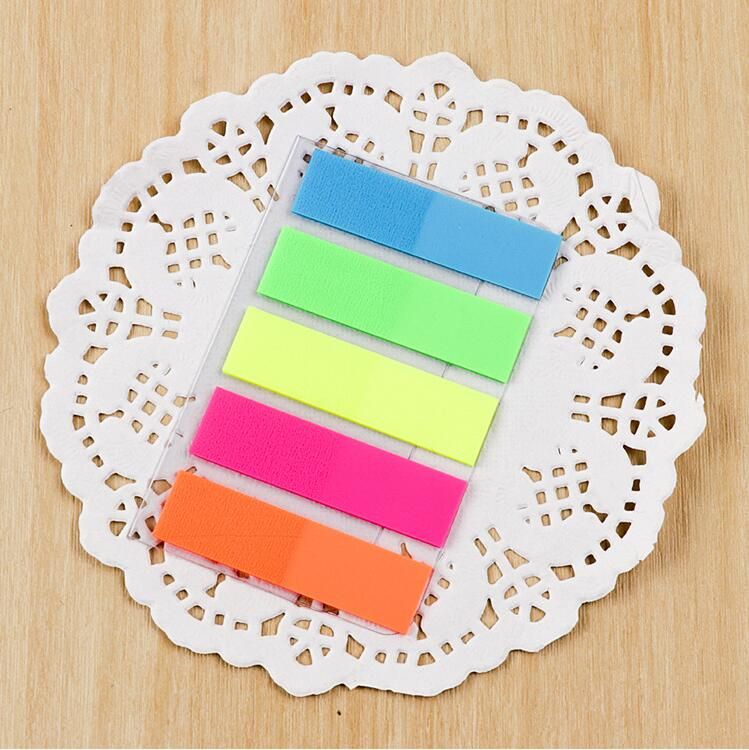 Neon Pagina Markers Gekleurde PET Index Tabs Vlaggen Sticky Notes voor Pagina Marker