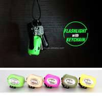 SORBO Mini Dynamo Solar Keychain Hand Crank LED Flashlight