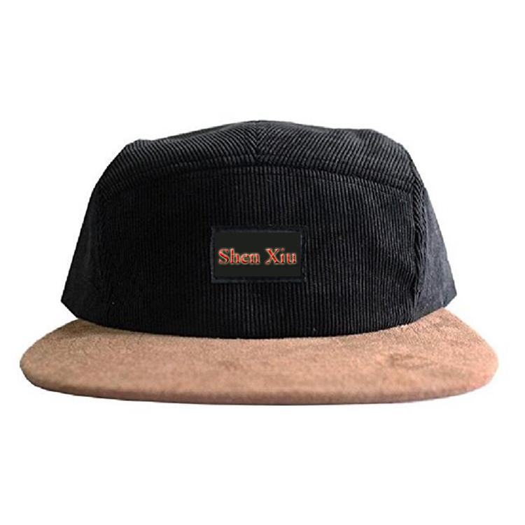fc30608f0f Atacado painel de veludo corda chapéu cap desestruturado 5 bem homens  esportes caps chapéus de pesca