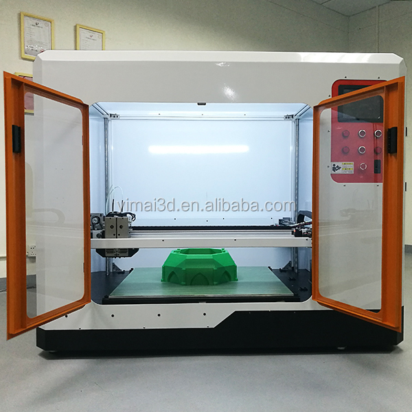 750*750*750mm 3D FDM printer, 3D plastic printer with dual extruder