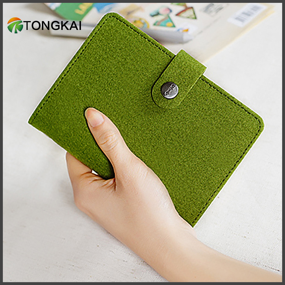 2018 Handmade personalize traveler's a5 a6 ring binder Felt notebook with elastic band