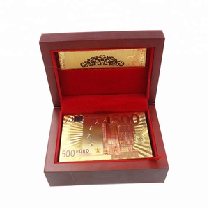 New Arts Gifts 24K Plated Gold Foil Poker Waterproof Playing Cards Table Games