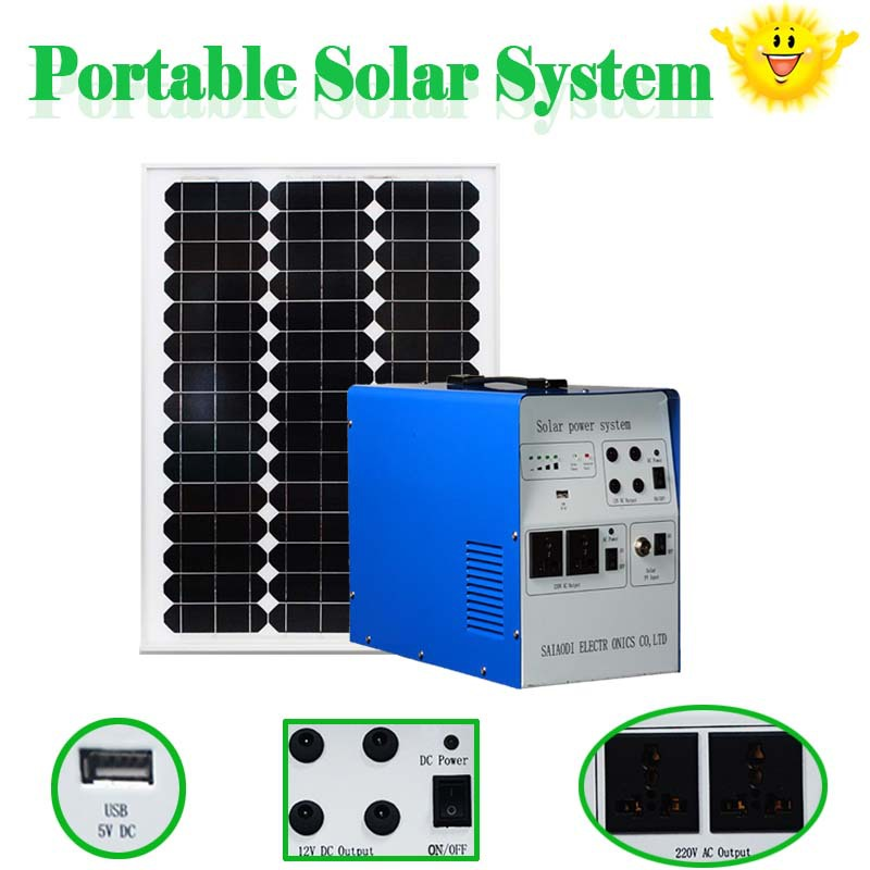 solar system including solar panel and lamp mobile phone charging solar system solar mounting system 300w 500w for home use