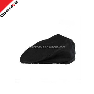 kitchen breathable Hat cap black non woven peaked chef cap