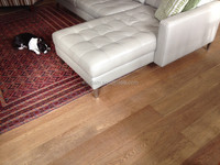 Brown stain and wire brushed oak multi-layer wood flooring