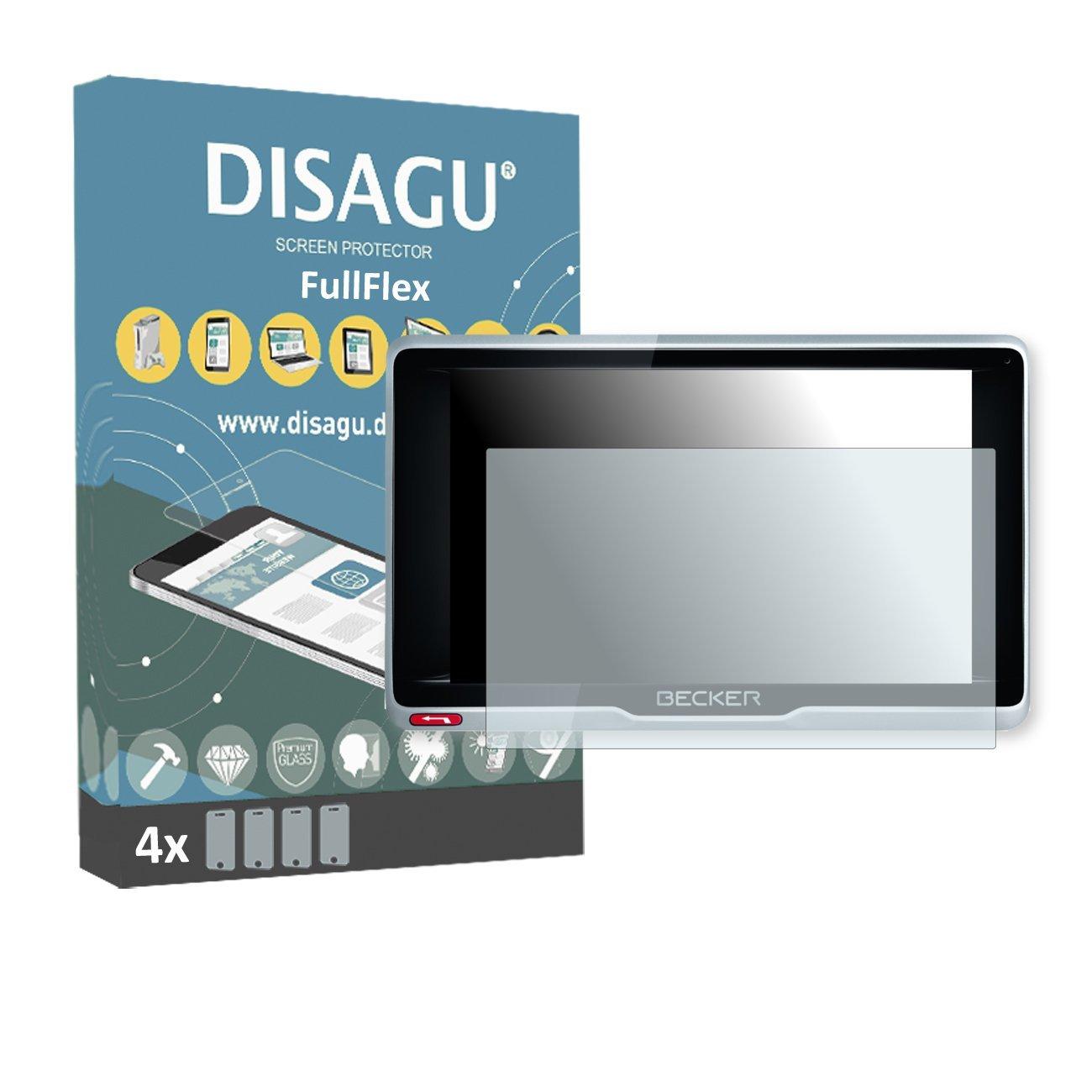 4 x Disagu FullFlex screen protector for Becker Active.6 LMU plus foil screen protector
