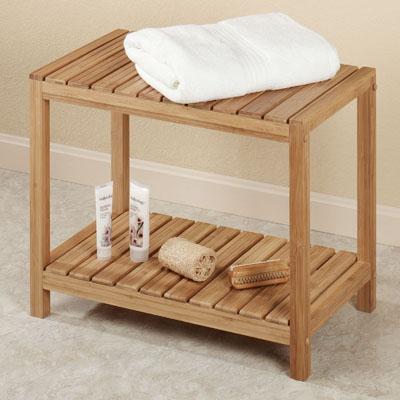 Eco estilo ba o de bamb spa banco silla de pedicura - Banco de bano ...