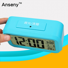 portable LCD digital desktop small alarm clock/abs electronic talking morning clock
