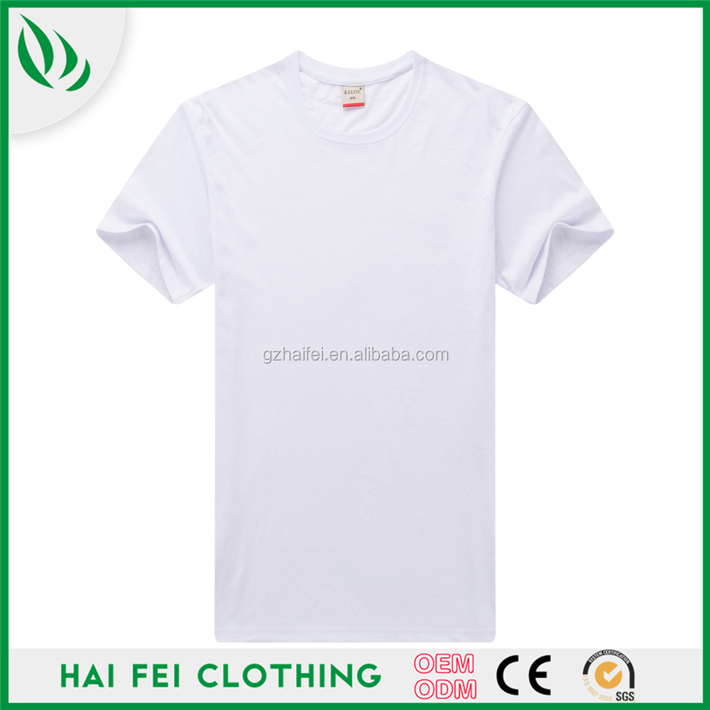 Guangzhou HaiFei Wholesale election campaign Custom 120 gsm white t shirt