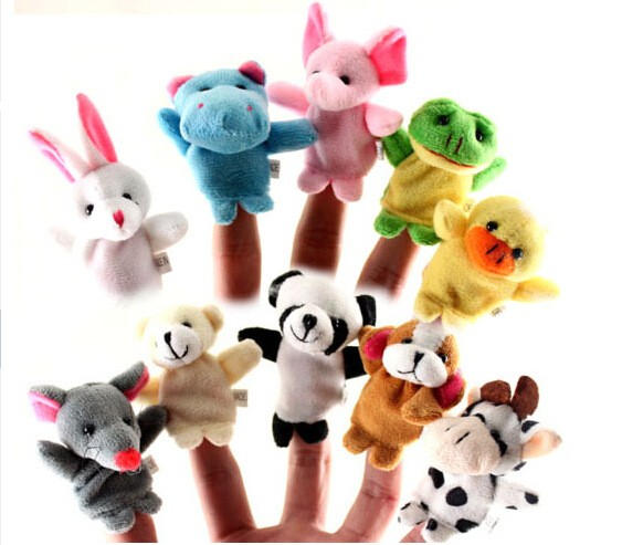 Custom Mini Cheap Plush Finger Puppets Toys