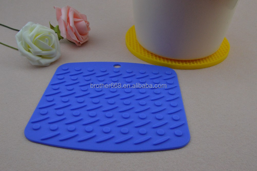 Eco friendly food grade blue silicone lace mat / pats
