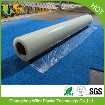 Custom Surface Protection Self Adhesive Pe Material Temporary Plastic Cover For Car Carpet Buy Plastic Cover For Car Carpet Cling Film Floor