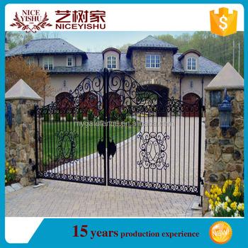 Iron Pipe Gate Design/iron Gate Door Prices/wrought Iron Gate ...