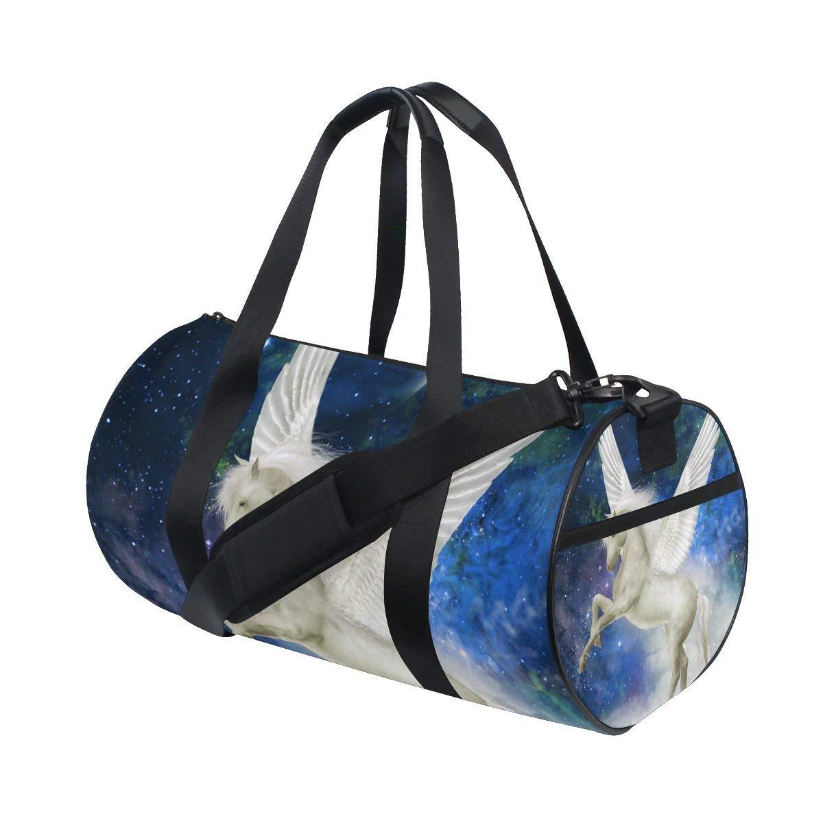 ed4100f253 Get Quotations · ALIREA Unicorn Duffle bag Shoulder Handy Sports Gym Bags  for Men and Women