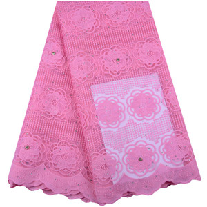 Pink French Net Lace 2019 Latest African Tulle Lace With Plenty Stones Nigeria High Class Wedding Milk Silk Lace For Women 1420