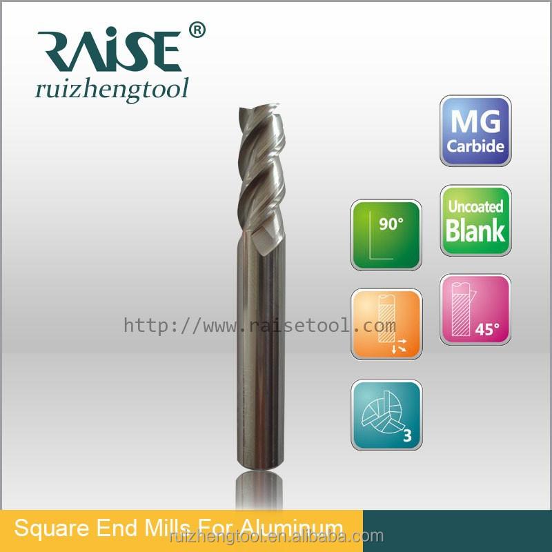 3 Flutes Cnc Eal-super Micro Grain Solid Carbide Flat End Mill ...