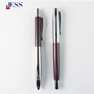 personalized painting metal ballpoint pen with clip high quality fountain pen