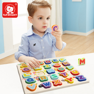 Topbright online stores autism sensory toys child educational wooden animal alphabet puzzle 120324