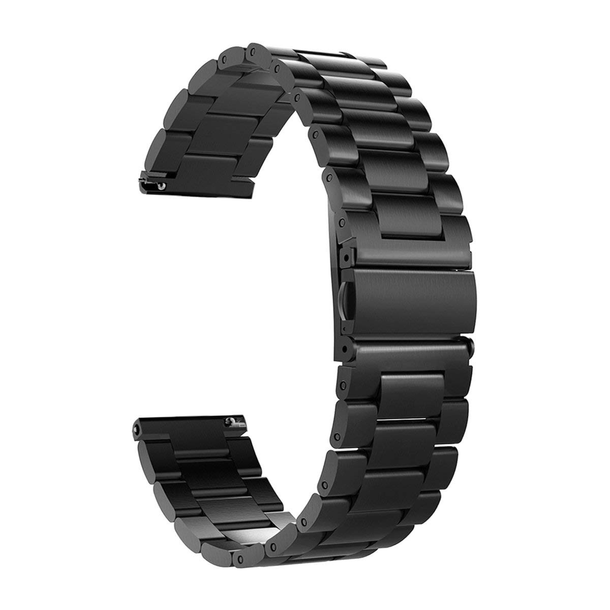 Gear S3 Frontier/Classic Bands, Valkit 22mm Solid Stainless Steel Metal Replacement Smart Watch Band Link Bracelet Strap for Samsung Gear S3 Frontier/S3 Classic Smart Watch Large Size - Black