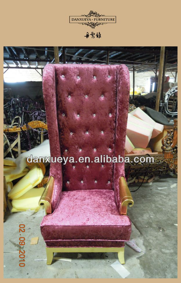 Antique King And Queen Throne Chair B02#